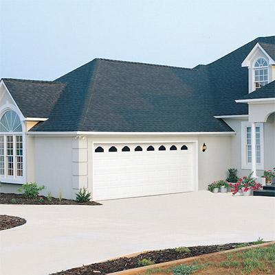 garage door on house