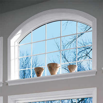double hung window in a home